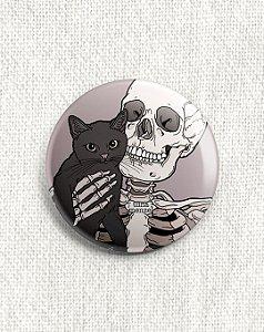 Boton Esqueleto e Gato Preto