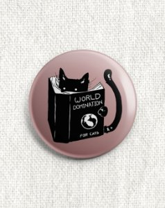 Boton Gatinho Preto - World Domination