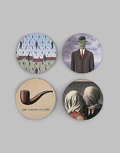 Porta Copos René Magritte