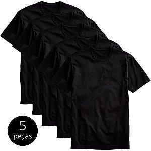 Kit 5 Camisetas Básicas Masculina Part.B T-shirt Algodão Preta Tee