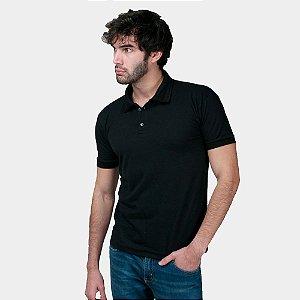 Camisa Polo Part.B Regular Piquet Preta