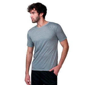 Camiseta Fit Básica Part.B Masculina Chumbo
