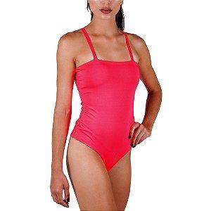 Body Neon Verão Total Pink Com Bojo