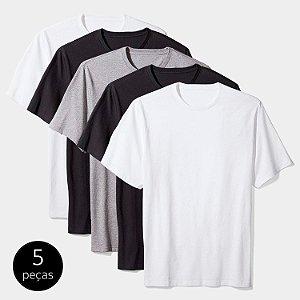 Kit Camiseta Básica c/ 5 Peças Masculina Colors