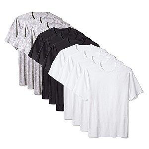Camisetas Básica Masculina Algodão Kit 10 Peças Colors