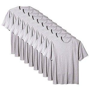 Camisetas Básica Masculina Algodão Kit 10 Peças Cinza