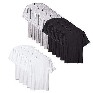 Camisetas Básica Masculina Algodão Kit 15 Peças Colors