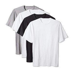 Camiseta Básica Masculina Algodão Kit 4 Peças Colors