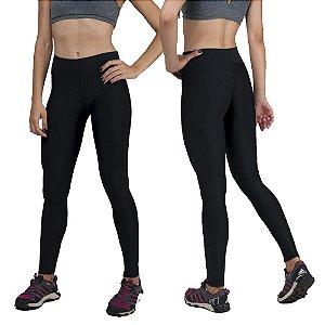 Kit com 2 Calças Legging Básica Suplex Preta