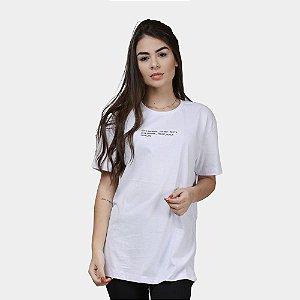 Camiseta Estampada Minimal Algodão Feminina Branca