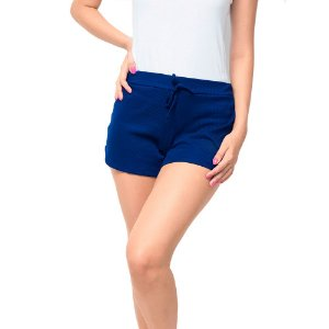 Shorts Canelado Fashion Feminino Azul Marinho