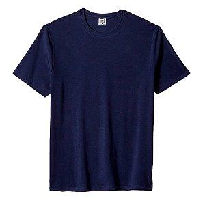 Camiseta Masculina Básica Algodão Premium Modelo Exclusivo Azul Marinho