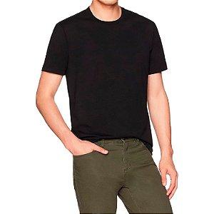 Camiseta Masculina Básica Algodão Premium Modelo Exclusivo Preta