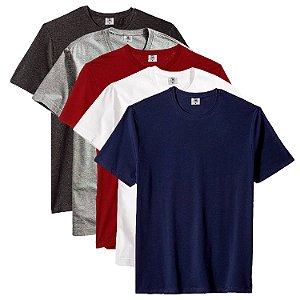 Kit com 5 Camisetas Masculina Básica Algodão Part.B Premium Noronha