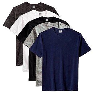 Kit com 5 Camiseta Masculina Básica Algodão Premium Caicos