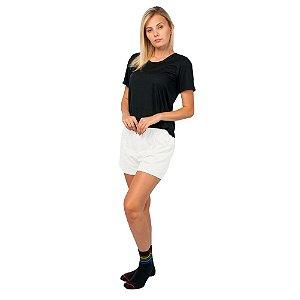 Conjunto Pijama Short Dolll Básico Part.B Preto e Branco