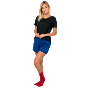 Conjunto Pijama Short Dolll Básico Part.B Preto e Azul