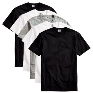 Kit Com 5 Camisetas Masculina Básica Algodão Part.B Premium Colors