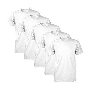 Kit com 5 Camisetas Masculina Dry Fit Part.B Branca