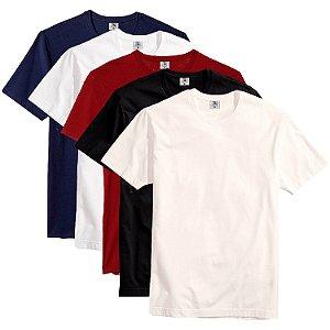 Kit com 5 Camisetas Slim Masculina Básica Algodão Part.B Enseada