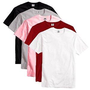 Kit com 5 Camisetas Slim Masculina Básica Algodão Part.B Ilhabela