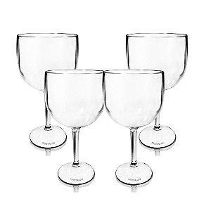Kit 4 Taças Gin Transparente 550ml - KrystalON