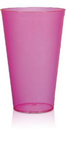 Copo Big Drink 550ml Rosa - Poliestireno Acrilico PS