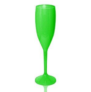 Taça Champagne Verde Limão 170ml - Poliestireno Acrílico PS