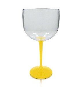 Taça de Gin Bicolor Amarela - Acrilico PS