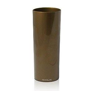 Copo Long Drink Dourado Acrílico 300ml