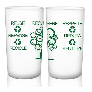 Copo Eco Green Cups Personalizado 280ml Policarbonato