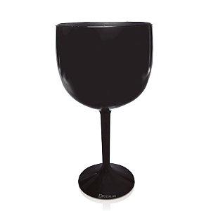 Taça Gin Preto 550ml - Poliestireno Acrilico PS
