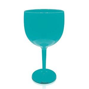 Taça Gin Azul Tiffany 550ml - Poliestireno Acrilico PS