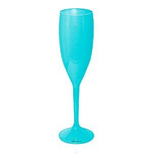 Taça Champanhe Azul Tiffany 170ml - Poliestireno Acrilico PS