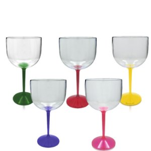 Kit 5 Taça Gin Haste Colorida