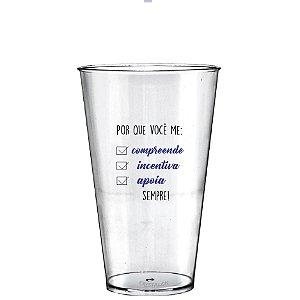 Copo Big Drink 550ml - Dias dos Namorados -  Por que Você me..