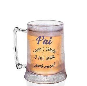 Caneca Gel Personalizada 400ml Criativo Dia dos Pais Presente Lembrancinha -  Pai Como é Grande
