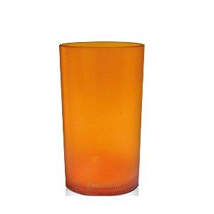Copo Long Drink 280ml Laranja - Polipropileno Texturizado