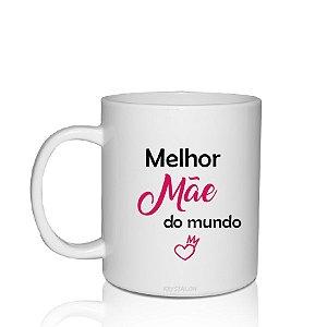 Caneca Personalizada 300ml Criativo Dia das Mães Presente Lembrancinha - Melhor Mãe