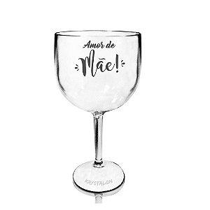 Taça Gin 550ml Personalizada Criativa Dia das Mães - Amor de Mãe