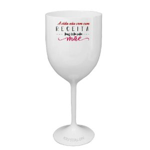 Taça Vinho 400ml Personalizada Criativa Dia das Mães - Receita