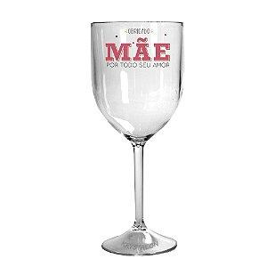 Taça Vinho 400ml Personalizada Criativa Dia das Mães - Seu Amor