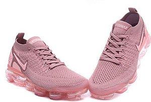 a9939ec1392 Tênis Nike Vapormax flyknit 2 feminino rosa claro nova era em tênis estilo  meia air max