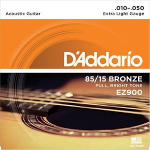 ENCORDOAMENTO PARA VIOLAO D'ADDARIO EZ900 EXTRA LIGHT 0.010