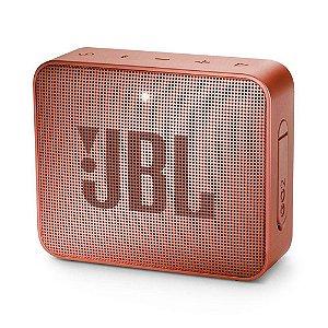 Caixa de Som Portátil Go 2 CINNAMON JBL com Bluetooth e à Prova d´Água