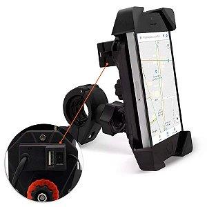 Suporte de Celular Carregador USB SR-4  para Moto Universal
