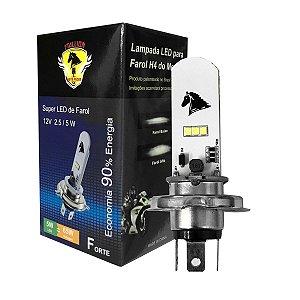 Lâmpada Super LED H4 Farol 8000k 35w