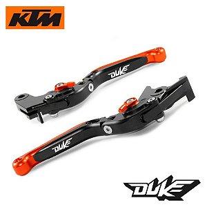 Manete Articulado Extensível Laser Ktm Duke 200 390