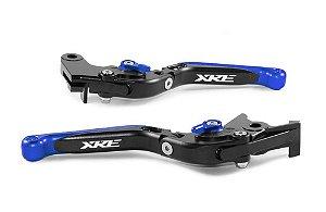 Manete Articulado Extensível Preto Azul  Xre 190 300 A Laser
