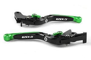 Manete Esportivo Preto Verde Gsxs 1000 A Laser Gsx-s